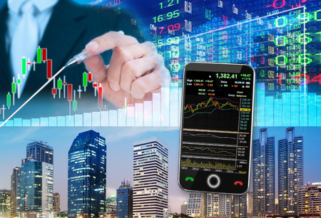 stock market concept ,stock market background Imagens