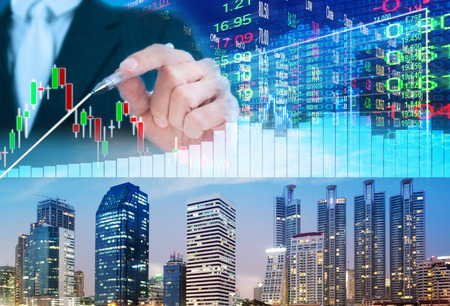 stock: stock market concept ,stock market background Stock Photo