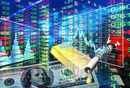 bearish: stock market concept ,bullish and bearish market Stock Photo