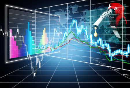 bullish: stock market concept ,bullish and bearish market Stock Photo