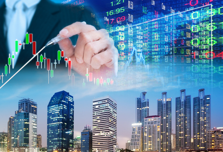 stock market concept ,stock market background Stock Photo