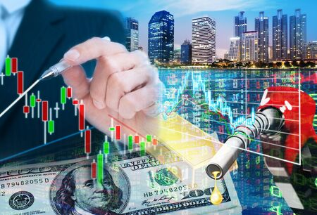 building trade: stock market concept ,stock market background Stock Photo