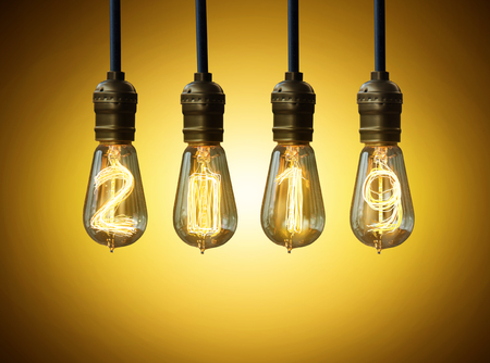 light bulb,new year 2019