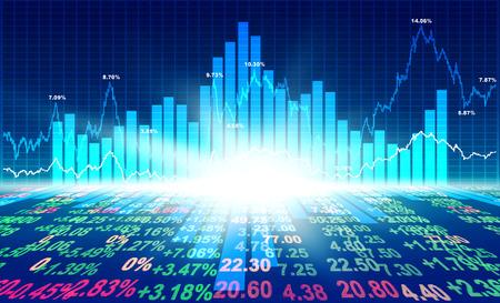 concepto de mercado de valores y el fondo Foto de archivo