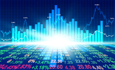 concetto di mercato azionario e lo sfondo Archivio Fotografico