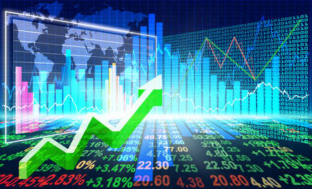 stock market charts: stock market concept and background