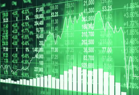 beurs concept en de achtergrond Stockfoto