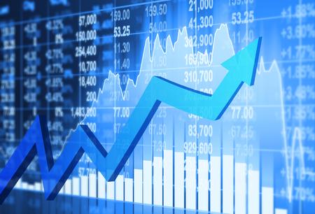Concetto di mercato azionario e lo sfondo Archivio Fotografico - 45339496