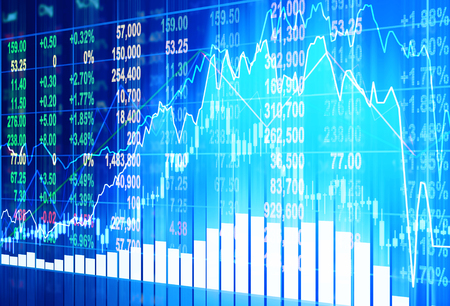 analyze: stock market concept and background