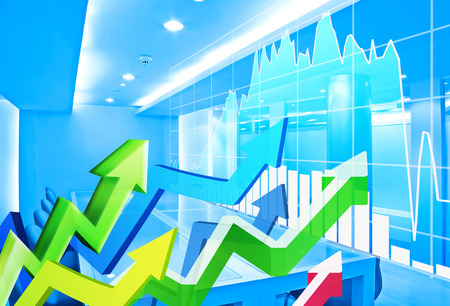 stock: stock market concept and background
