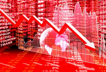 financial market: stock market concept , stock market crisis