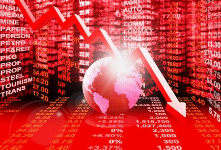 stock market concept , stock market crisis
