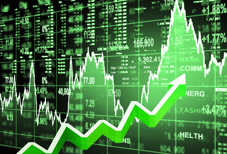 economic: stock market concept and background