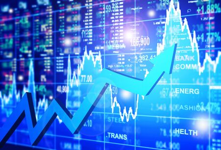 stocks: stock market concept and background