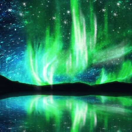 ionosphere: northern lights ,aurora borealis