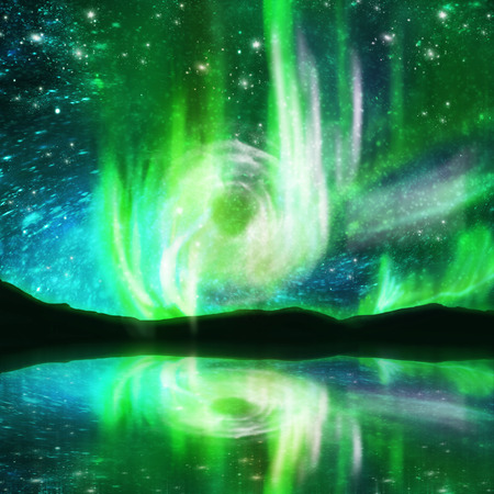 magnetosphere: northern lights ,aurora borealis