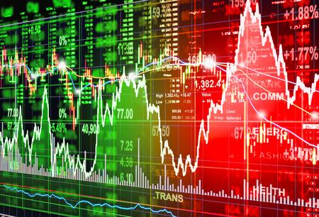 Concept de marché boursier et le fond Banque d'images - 46080356