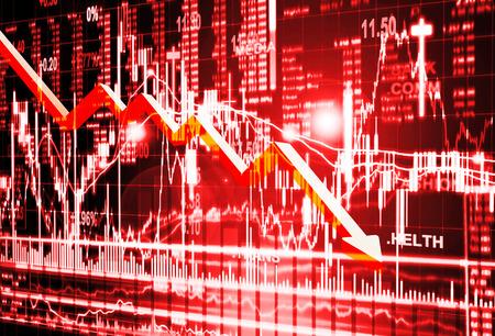 market crash: stock market concept ,crisis market