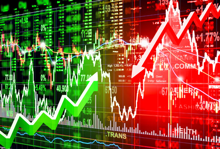 stock market concept and background Фото со стока - 46080365