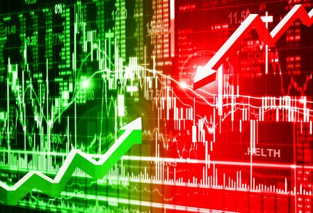 bearish business: stock market concept and background