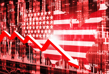 downturn: stock market concept and background