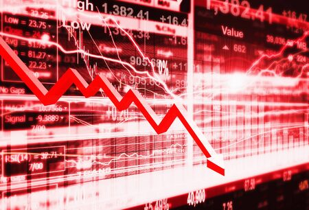 crisis: stock market concept and background