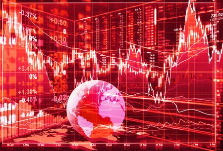 downturn: stock market concept , stock market crash Stock Photo