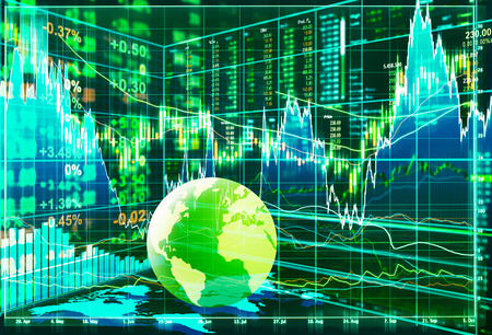 money exchange: stock market concept and background