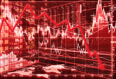 share market: stock market concept , stock market crash Stock Photo