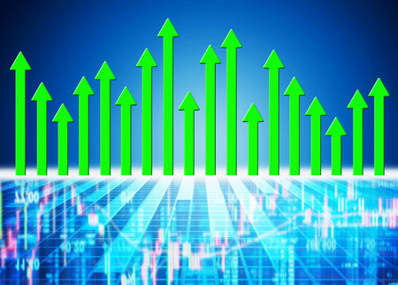 sell: stock market concept and background