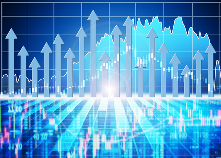 statistic: stock market concept and background