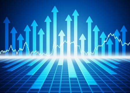 stock exchange: stock market concept and background