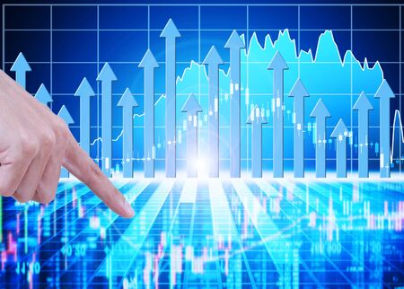 financial market: stock market concept and background