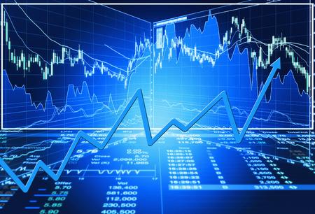 concept de marché boursier et le fond