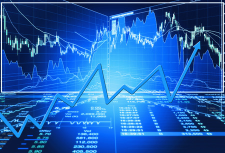 stock price: stock market concept and background