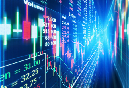 rate: stock market concept and background