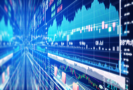 funds: stock market concept and background