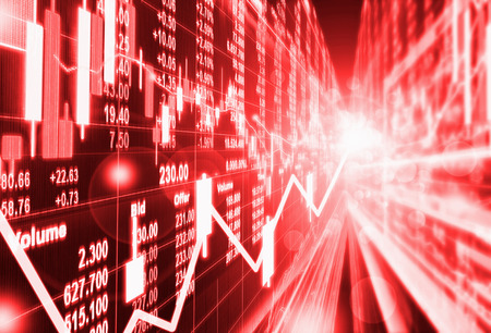 downturn: stock market concept and background ,crisis