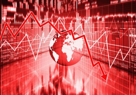 downturn: stock market concept ,economy crisis