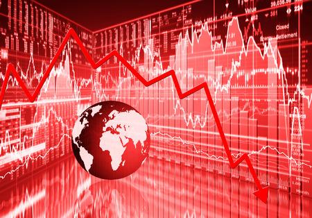 market crash: stock market concept , stock market crash Stock Photo
