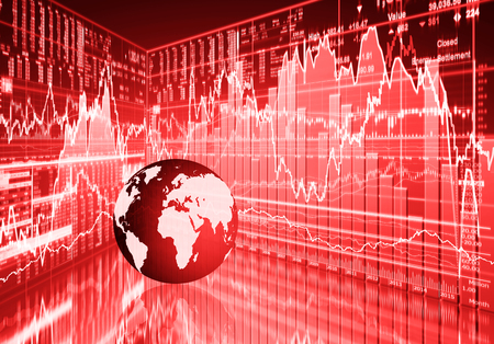 stock investing: stock market concept , stock market crash Stock Photo
