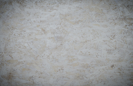 White background OSB (Oriented Strand Board). Stock Photo