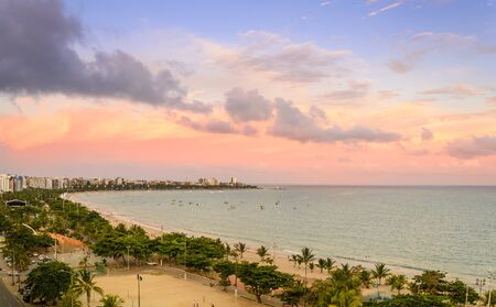 Spectacular sunset over the  Pajucara beach in Maceio , Alagoas , Brazil  .