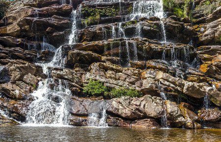 Brazil journay .Waterfall  in  the country side the  state of Minas Gerais , Brazil.  Diamantina / Serro region. Imagens