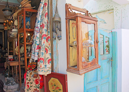 Greek shop window, Santorini