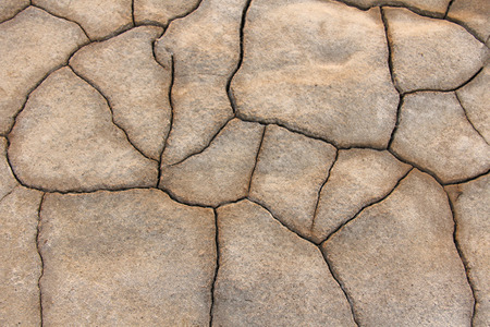 Barren earth. Dry cracked earth background. Cracked mud pattern. Soil In cracks.Creviced texture.Drought land. Environment drought.