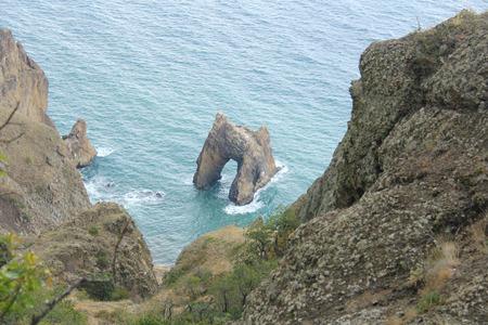 Golden Gate. Beautiful landscape. Crimea, mountains and the sea. Summer nature.