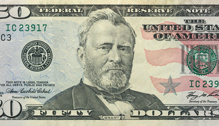 Fifty Dollars With One Note. 50 Dollars.