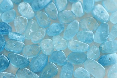 Aquamarine is blue. Stock Photo