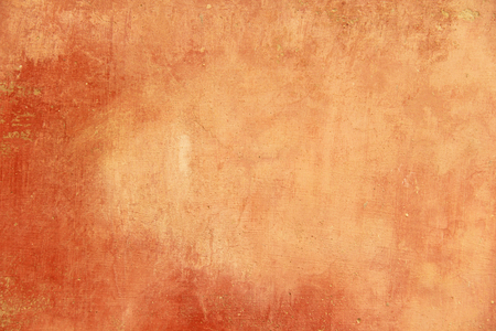Empty Terracotta and Orange Background for Design and Design Color Terracotta. Background from Plaster, For Design, Decoration and Templates.